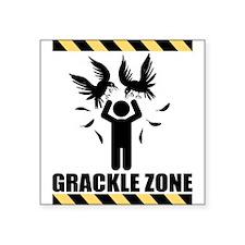 """GRACKLE-ZONE.gif Square Sticker 3"""" x 3"""""""