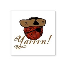 "yarrrn.png Square Sticker 3"" x 3"""