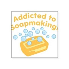 "ad-to-soapmaking_tr.png Square Sticker 3"" x 3"""