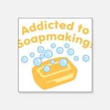 """ad-to-soapmaking_tr.png Square Sticker 3"""" x 3"""""""