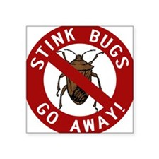 "stink bug-go-away.png Square Sticker 3"" x 3"""