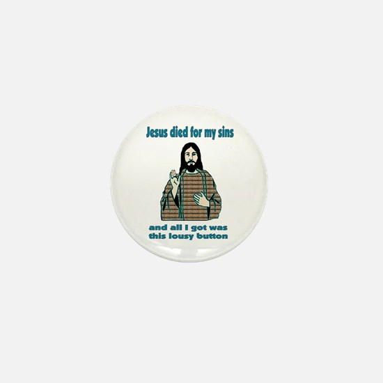 Jesus Humor Mini Button