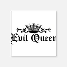 "evil-queen_bl.png Square Sticker 3"" x 3"""