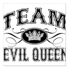 "team-evil-queen_bl.png Square Car Magnet 3"" x 3"""