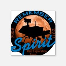 """remember-spirit-rover_tr.png Square Sticker 3"""" x 3"""