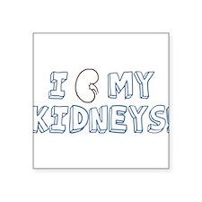 "organ-i-love-my-kidneys_tr.png Square Sticker 3"" x"