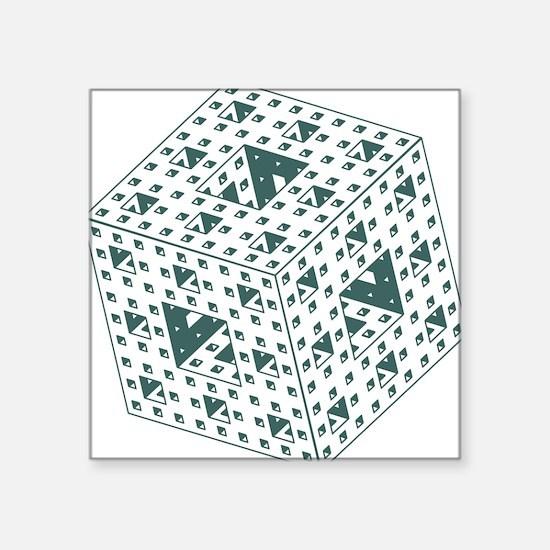 "menger-sponge.gif Square Sticker 3"" x 3"""