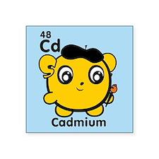 "cd-cadmium.png Square Sticker 3"" x 3"""