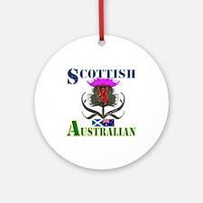Scottish Australian Thistle Ornament (Round)