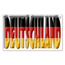 Word Art Flag Deutschland Rectangle Decal