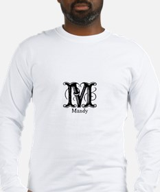Mandy: Fancy Monogram Long Sleeve T-Shirt