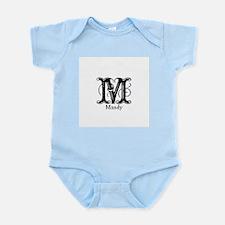 Mandy: Fancy Monogram Infant Bodysuit
