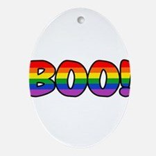 boo-rainbow.png Ornament (Oval)