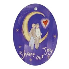 gay_wedding_moon.jpg Ornament (Oval)