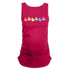 ducky-rainbow-row.gif Maternity Tank Top