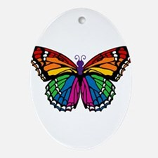 butterfly-rainbow2.png Ornament (Oval)