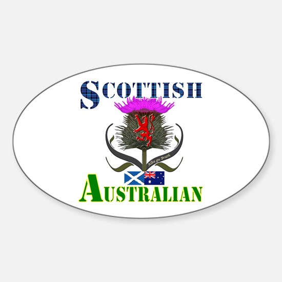 Scottish Australian Thistle Sticker (Oval)