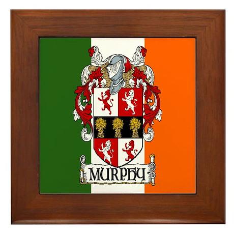 Murphy Arms Tricolour Framed Tile
