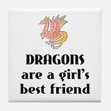 Dragon Girl Tile Coaster
