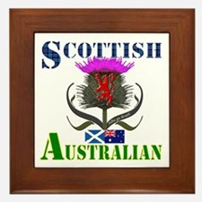 Scottish Australian Thistle Framed Tile