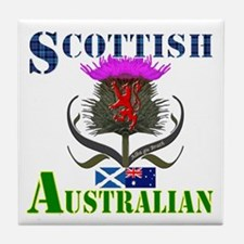 Scottish Australian Thistle Tile Coaster