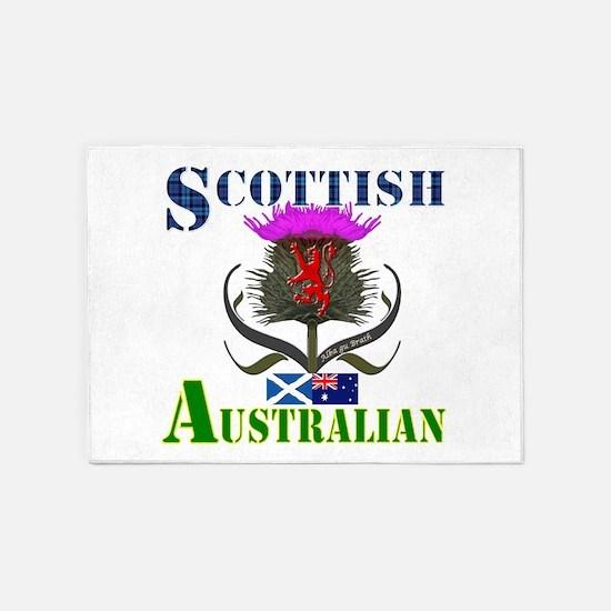 Scottish Australian Thistle 5'x7'Area Rug