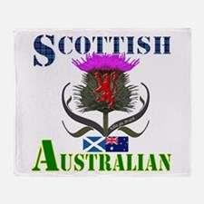 Scottish Australian Thistle Throw Blanket