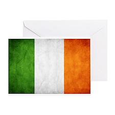 antiqued Irish flag Greeting Card