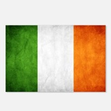 antiqued Irish flag Postcards (Package of 8)
