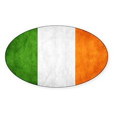 antiqued Irish flag Decal