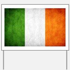 antiqued Irish flag Yard Sign