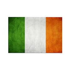 antiqued Irish flag Rectangle Magnet