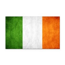 antiqued Irish flag Rectangle Car Magnet