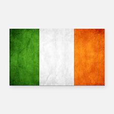 antiqued Irish flag Rectangle Car Magnet