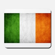 antiqued Irish flag Mousepad