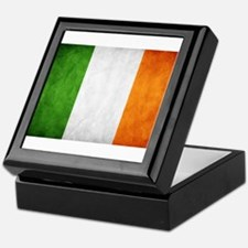 antiqued Irish flag Keepsake Box