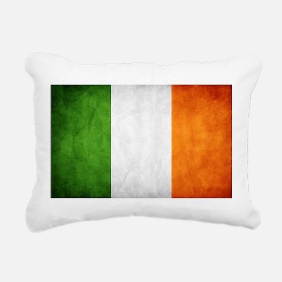 antiqued Irish flag Rectangular Canvas Pillow