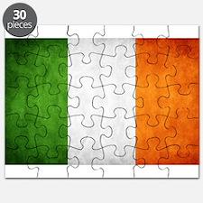antiqued Irish flag Puzzle