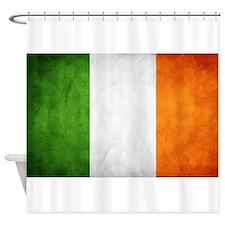antiqued Irish flag Shower Curtain