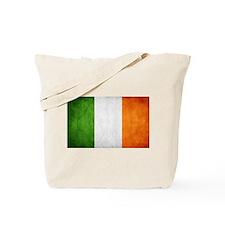antiqued Irish flag Tote Bag