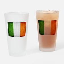 antiqued Irish flag Drinking Glass