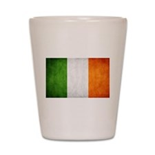 antiqued Irish flag Shot Glass