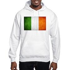 antiqued Irish flag Hoodie