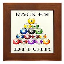Rack Em Bitch Framed Tile