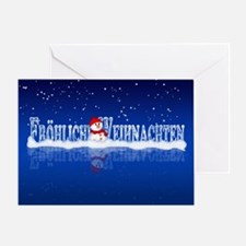 German Christmas Snowman Card