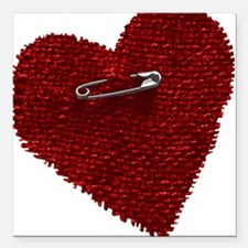 "bl_heart_pin.png Square Car Magnet 3"" x 3"""