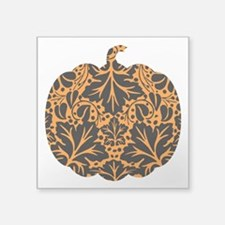 "bl_pumpkin-ink.png Square Sticker 3"" x 3"""