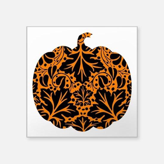 "bl_pumpkin-ink.png Square Sticker 3"" x 3"""
