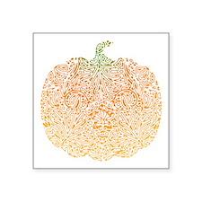 """pumpkin-pattern_bl.png Square Sticker 3"""" x 3"""""""