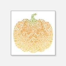 "pumpkin-pattern_bl.png Square Sticker 3"" x 3"""